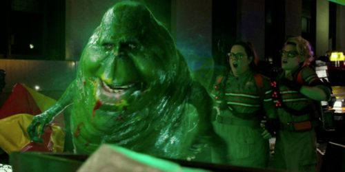 Slimer is ready for his close-up.